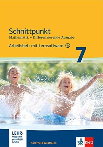 Schnittpunkt Mathematik 7. Differenzierende Ausgabe Nordrhein-Westfalen: Arbeitsheft mit Lösungsheft und Lernsoftware Klasse 7 (Schnittpunkt ... Ausgabe für Nordrhein-Westfalen ab 2012)