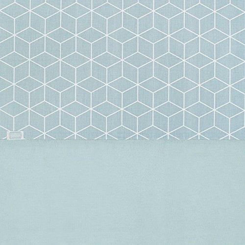 Jollein Housse de couette et taie d'oreiller, drap 120 x 150 cm Graphic Pierre Vert, drap 120 x 150 cm Graphic Pierre, Vert du