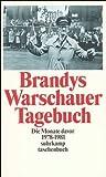 Warschauer Tagebuch: Die Monate davor. 1978?1981 (suhrkamp taschenbuch) - Kazimierz Brandys