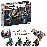 LEGO StarWars BattlePackMandalorian, Set da Battaglia con4Minifigure,SpeederBikee Mini Forte di Difesa, 75267