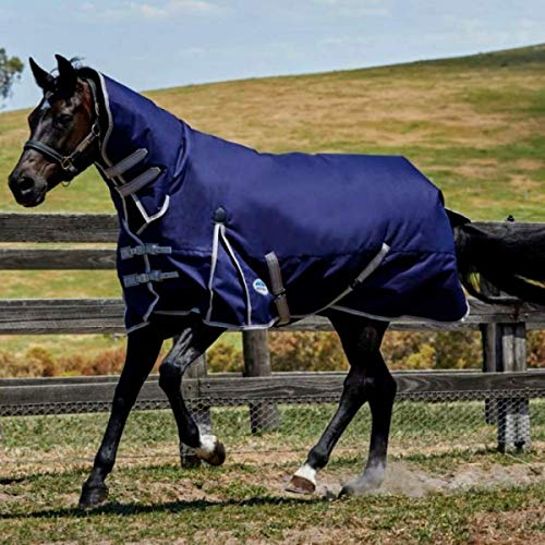Weatherbeeta Comfitec Essential Combo Neck Lite Plus Turnout Rug 6ft Navy/Silver/Red