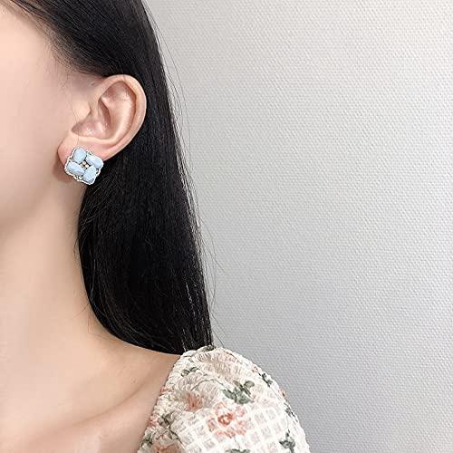 N/A Collares Mujer Pendientes Temperamento Pendientes De Color Cuadrado Transparente Collares De La Amistad para Collar Pareja