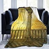 CVSANALA Manta de Cama,Balcón romántico con columnas y Arcos con Cielo Amarillo,Sofá Cama de Microfibra para Todas Las Estaciones,40' x 50'