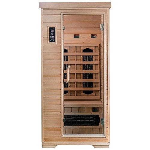 SaunaMed Sauna para 1 persona, estilo clásico, infrarrojos, EMR