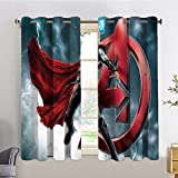 HoMdEfW Blackout Curtain Thor Avengers,W63 INCH x L72 INCH for Bedroom Living Room