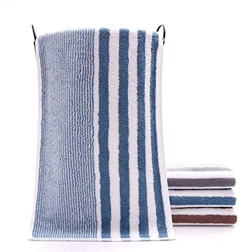Toalla de algodón a rayas de gasa peinada para adultos casa absorción de agua lavado cara