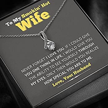To My Smokin  Hot Wife - Necklace Gift Gift for Wife Birthday Gift for Wife Jewelry Gift for Wife Necklace for Wife Gift for Wife Birthday Gift for Women