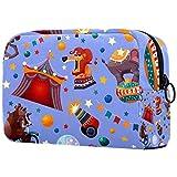 Yitian Bolso cosmético púrpura del circo de los animales para las mujeres, adorables bolsas espaciosas del maquillaje del viaje del neceser
