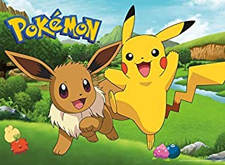 Buffalo Games - Pokemon - Pikachu & Eevee Spring - 100 Piece Jigsaw Puzzle