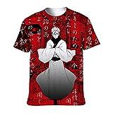 XINRUI Anime Jujutsu Kaisen Mens 3D T-Shirt Short Sleeve Yuji Itadori Sukuna Graphic Fashion Tee(xx_l I)