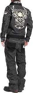 【当店別注】 (バンソン) VANSON ツナギ つなぎ フライングファイアースカル 刺繍&ワッペン デニム オールインワン JFV-2101-WABASH