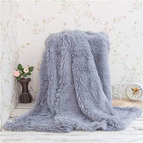 KAIHONG Kuscheldecke Wohndecke Tagesdecke Microfaser Kunstfell Decke für Couch Bett Leicht flauschig - (130 x 160, Grau)