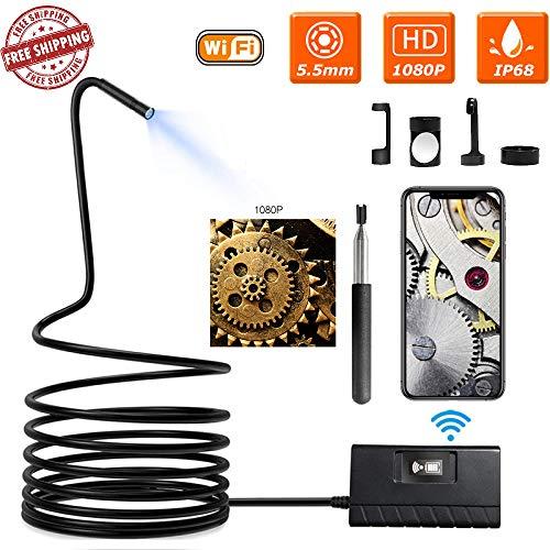 Wangt Draadloze Inspectie Camera, Telescoping Flexibele Endoscoop IP68 Waterdichte Snake Camera-2.0 Megapixel