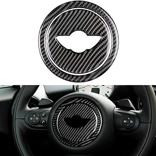 Semine Auto lenkrad Aufkleber dekor Ring kohlefaser für Mini Cooper Clubman r55 r56 r60 r61