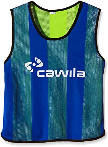 Cawila Wendeleibchen Trainingsleibchen, Royal-Blau/Gelb, One size