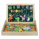 jerryvon Puzzle Magnetico Niños 160 Piezas de Madera Pizarra Magnética Infantil con Rompecabezas...