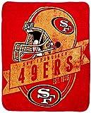 NORTHWEST NFL San Francisco 49ers Raschel Throw Blanket, 50' x 60', Grand Stand
