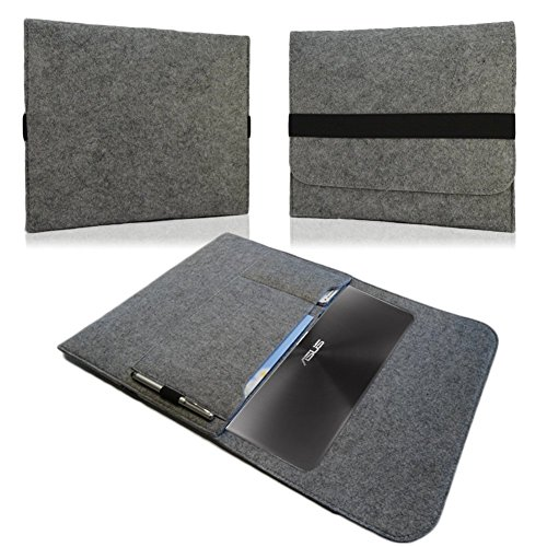 NAUC Für Lenovo E31-70 Tasche Hülle Filz Sleeve Schutzhülle Hülle Cover Bag, Farben:Dunkel Grau