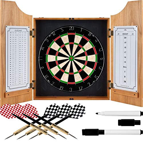 Trademark Commerce 15-91008 TGT Beveled Wood Dart Cabinet - Pro Style Board and Darts - Best Price Most Popular New Brand Great Reviews Low Priced Big Savings Gift Present Men