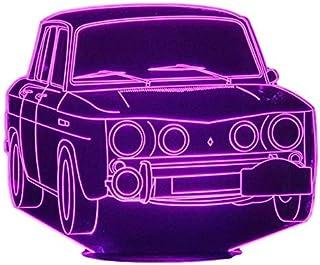 RENAULT R8, Lampada illusione 3D con LED - 7 colori.
