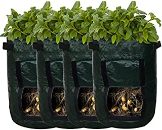 Backyard Accessories Garden Planter Bag – Grow Vegetables: Potato, Carrot, Tomato, Onion - Plant Tub with Access Flap for Harvesting - Eco-Friendly - Heavy Duty & Durable Bags (4)