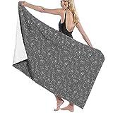 asdew987 Toallas de baño de noche estrellas cielo gris carbón extra grande toallas de baño rápido DryShower/Natación/Camping