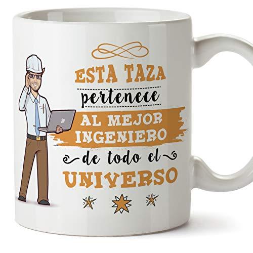 MUGFFINS Ingeniero Tazas Originales de café y Desayuno para Regalar a Trabajadores Profesionales - Esta Taza Pertenece al Mejor Ingeniero del Univers
