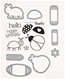 Sizzix 660193 Framelits Die Set with Stamps, Bugs by Stephanie Barnard, 8-Pack