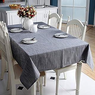 BUBULILI Color sólido Algodón Mantelería de Lino Estilo Japonés Mantel Pastoral Cubierta de Tabla Llana para la Mesa de Comedor Partido Mesa de Decoración para el hogar