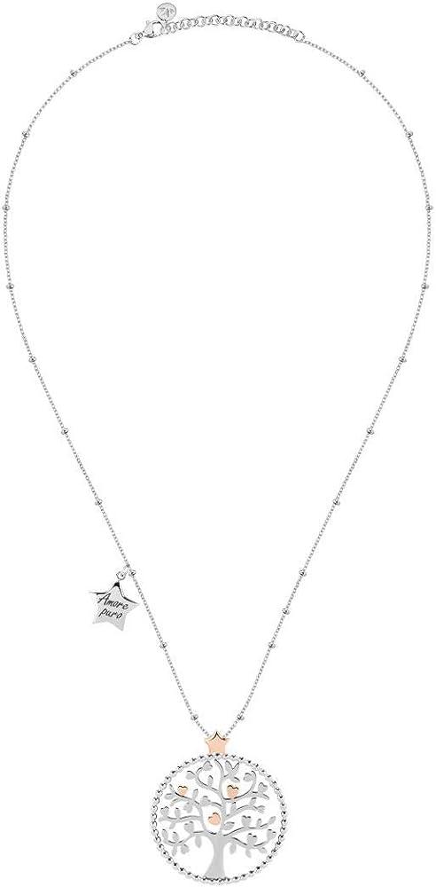 Morellato, collana da donna, collezione talismani, in acciaio,con ciondolo albero della vita SAQE11