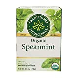 Traditional Medicinals Organic Spearmint Herbal Tea, 16 Count (Pack of 1)
