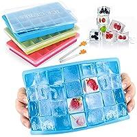 ❥3 Eiswürfelbehälter & 3 Deckel & 1 Mini-Clip-3-Behälter stellen jeweils 24 Eiswürfel mit einer Größe von insgesamt 72 her. Jeder Behälter hat einen Deckel, um Ihnen ein sauberes und sicheres Heimwerkerhandwerk zu gewährleisten. Es ist auch mit Mini-...