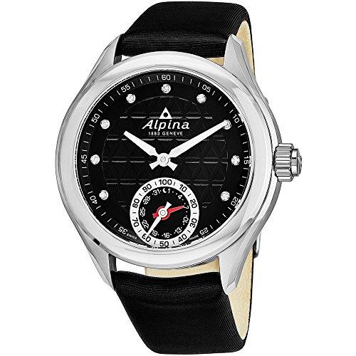 Alpina Damen Analog Quarz Uhr mit Leder Armband AL-285BTD3C6