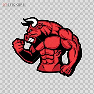 Decal Stickers Gym Bodybuilder Muscle Red Bull Motorbike Boat D217 2RW65