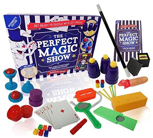 Die perfekte Magic Show – 137 Magic Tricks – Kinder Magic Set – komplett mit Magic Wand, Magic Card Tricks und Loads mehr – First Magic Set – Beginners Edition