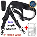 Rifle Sling AR 15 Accessories - For US 2nd AMENDMENT Supporters- 2 Point Rifle Sling with Swivels.Tactical Hunting ar Gan Strap- Width 2''| Adjustable Length 40''-59''| Fits Any Gun | Free Bonus