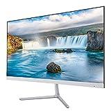ASHATA 23,8 Inch Monitor LED 1920 * 1080, HD HDMI VGA Portátil Pantalla de Visualización de PC Monitor Ultradelgado para Juegos, Ver Películas, etc. (EU)