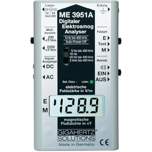 Gigahertz ME 3951 A - Misuratore di campi elettromagnetici a basse frequenze, rilevatore di elettrosmog, 5 Hz / 400 kHz, 2 dB