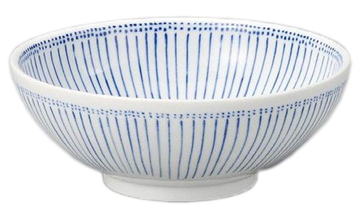 戦艦ベンチャーサーフィン丼(単品) 大 古染十草麺鉢 [215 x 80mm] 和食器 うどん そば 飲食店 ラーメン 業務用
