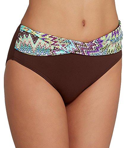 Sunsets Women's Twist High Waist Bikini Bottom, Sunburst, Medium