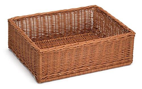 Prestige Wicker Extra Large Display/Storage Basket 60Cm x 40Cm H20Cm, Willow, Natural, 60 x 40 x 20 cm/X