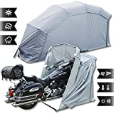Garaje plegable para motocicleta, color gris, XL