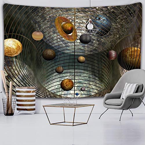 shuimanjinshan Tapiz de Planetas Espacio Exterior Galaxy Universe Tapices Impresos Mural para Colgar en la Pared para Dormitorio Sala de Estar Dormitorio 130X150Cm