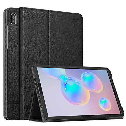 Fintie Folio Case for Samsung Galaxy Tab S6 10.5 Inch 2019 (Model SM-T860/T865/T867), [Patented S Pen Slot Design] Slim Fit Stand Cover Auto Sleep/Wake Black