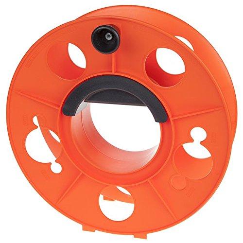 Bayco KW-130 Cord Storage Reel with Center Spin Handle, 150-Feet,Orange