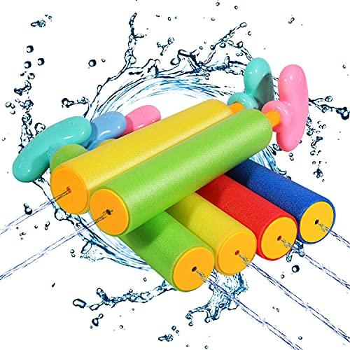 ARANEE Pistola ad Acqua per Bambini, 6 Set Pistole ad Acqua Schiuma Acqua Giocattolo per Bambini per All'Aperto Nuoto Piscina Giardino Spiaggia