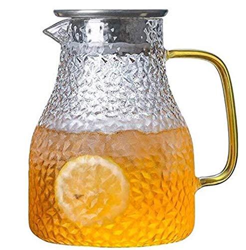 1,35 liter karaf van borosilicaatglas met een deksel en tuit RVS deksel ijsthee Wijn koffiemelk en sapdrank karaf Water karaf