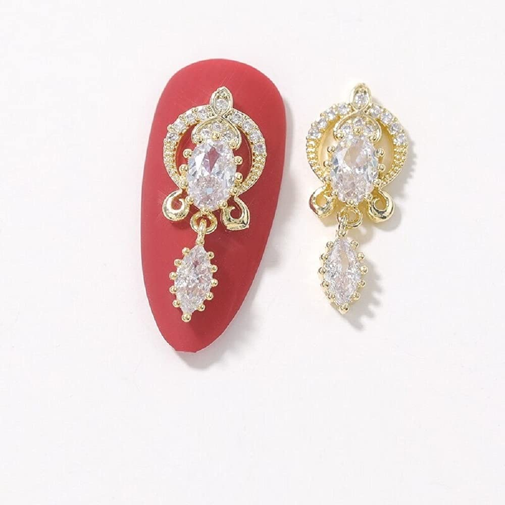 2Piece Butterfly Zircon Nail Decoration Discount mail order Crystal Jewelry Bow Pear OFFicial shop