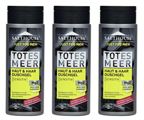 Salthouse Murnauer Just for Men Haut & Haar Duschgel, 3er Pack (3 x 250 ml)