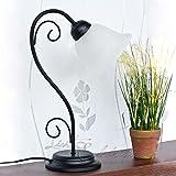 Clásica Lámpara de Mesa Estilo Art Nouveau/Negro 7812n